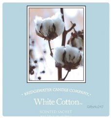 Greenleaf & Bridgwater WHITE COTTON  Large Scented Envelope Sachet